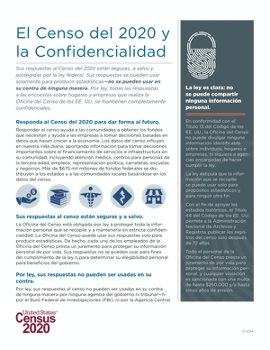 Census 2020 Fact Sheet – Confidentiality – Spanish