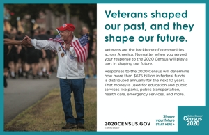 Cover Census 2020 Half Page Handout – Veterans