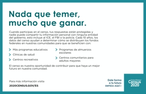 Census 2020 Half Page Handout – Spanish Speaking Audience
