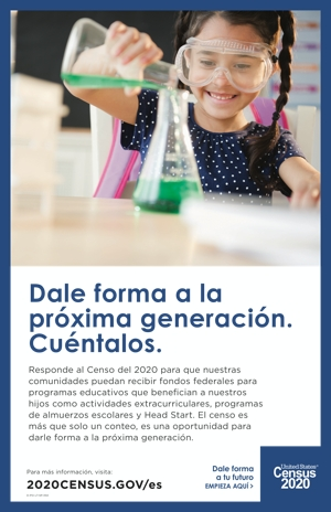Census 2020 Poster About Education – Spanish