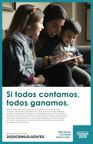Census 2020 Poster – Spanish Speaking Audience